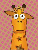 Girafe jaune en abondance illustration de vecteur