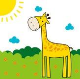 Girafe mignonne Photo libre de droits