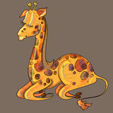 Girafe mignonne Image libre de droits
