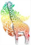 Girafe sur un fond abstrait (Vecteur) illustration stock