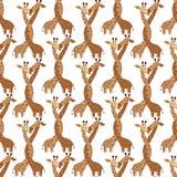 2018 01 giraff för kort 26_craft royaltyfri illustrationer