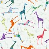 giraff mönsan seamless vektor illustrationer