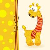 Giraffa con la sciarpa Immagine Stock Libera da Diritti