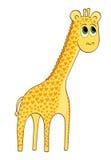 Giraffa del fumetto con i cuori fotografia stock