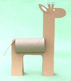 Giraffa di carta Immagini Stock