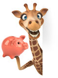 Giraffa di divertimento Fotografia Stock