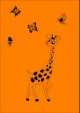 Giraffa di ?heerful Fotografie Stock