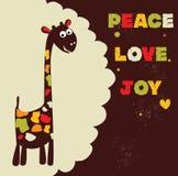 Giraffa di hippy Immagine Stock