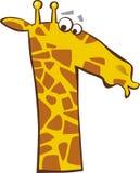 Giraffa divertente Immagini Stock Libere da Diritti