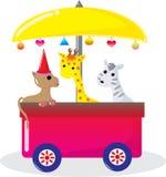 Giraffa e zebra del cane illustrazione di stock