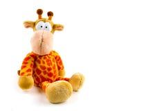Giraffa farcita isolata su priorità bassa bianca Immagini Stock Libere da Diritti