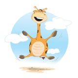 Giraffa felice Fotografia Stock