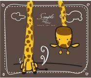 Giraffa lunga del collo Fotografia Stock