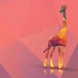 Giraffa poligonale geometrica, progettazione del modello Fotografia Stock