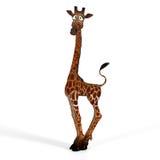 Giraffa sveglia con un fronte divertente - bello Fotografie Stock Libere da Diritti