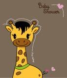 Giraffa sveglia del bambino Fotografie Stock