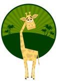 giraffbarn Arkivfoto