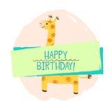 Giraffbeståndsdel av kortet Fotografering för Bildbyråer