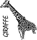 Giraffe, χέρι-σχέδιο, διανυσματική απεικόνιση