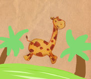 giraffe άλμα Στοκ φωτογραφίες με δικαίωμα ελεύθερης χρήσης