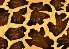 Giraffe δέρμα Στοκ φωτογραφία με δικαίωμα ελεύθερης χρήσης
