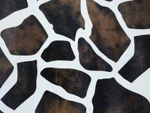 giraffe ανασκόπησης δέρμα Στοκ Φωτογραφίες