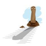 giraffe ημέρας groundhog Στοκ Εικόνα