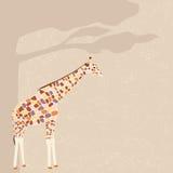 Giraffe διανυσματική κάρτα Στοκ Εικόνες