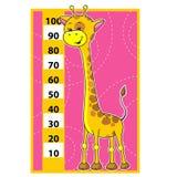 giraffe κλίμακα Στοκ εικόνες με δικαίωμα ελεύθερης χρήσης