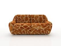 giraffe μίμησης καναπές δερμάτων που επισημαίνεται κάτω στοκ εικόνα