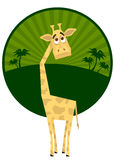 giraffe νεολαίες ελεύθερη απεικόνιση δικαιώματος