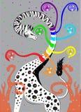 Giraffe ο Μαύρος με το λευκό Στοκ Εικόνες