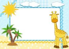 giraffe πλαισίου παιδιών φωτογ Στοκ εικόνα με δικαίωμα ελεύθερης χρήσης