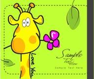 giraffe цветка Стоковая Фотография