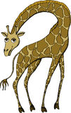 Giraffe. Vector illustration of cute Giraffe Stock Images