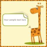 Giraffe. Cute template for postcard with giraffe.  illustration Royalty Free Stock Photos