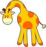 Giraffe. Happy friendly giraffe bowing with smile Royalty Free Stock Images