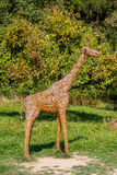 Giraffe abstraite de paille Images stock