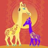 Giraffe al sole Fotografia Stock Libera da Diritti