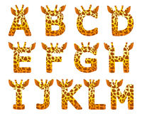 Giraffe alphabet set from A to M. Isolated giraffe alphabet set from A to M Stock Photography