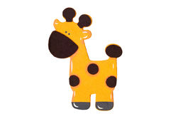 Giraffe auf Weiß Lizenzfreies Stockbild