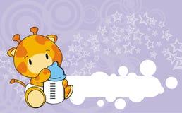 Giraffe baby cartoon. In format royalty free illustration