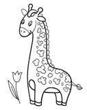 Giraffe baby cartoon vector illustration Stock Photos