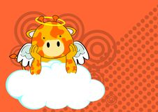 Giraffe baby cute angel cartoon background Royalty Free Stock Photos