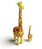 Giraffe and baby giraffe Stock Photos