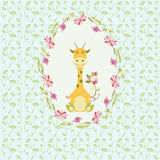 The giraffe background Stock Image