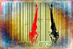 Giraffe barcode animal design art idea Royalty Free Stock Images