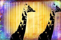 Giraffe barcode animal design art idea Stock Photography
