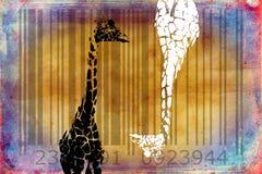 Giraffe barcode animal design art idea Royalty Free Stock Photo