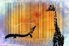 Giraffe barcode animal design art idea Royalty Free Stock Photography